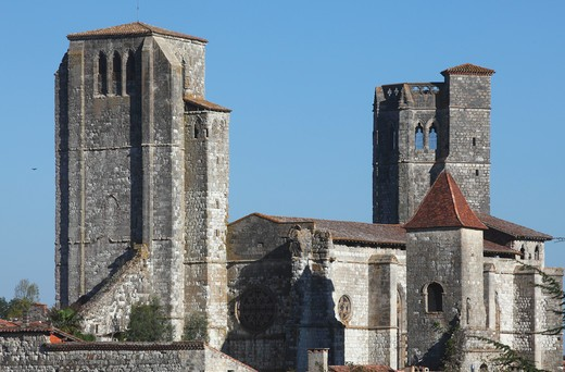 Stock Photo: 1606-164116 France, Midi-Pyrénées, Gers (32), La Romieu, Saint Pierre colegiate church (Unesco world heritage)
