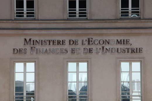 Stock Photo: 1606-164283 French finance & economy ministry . Paris. France.