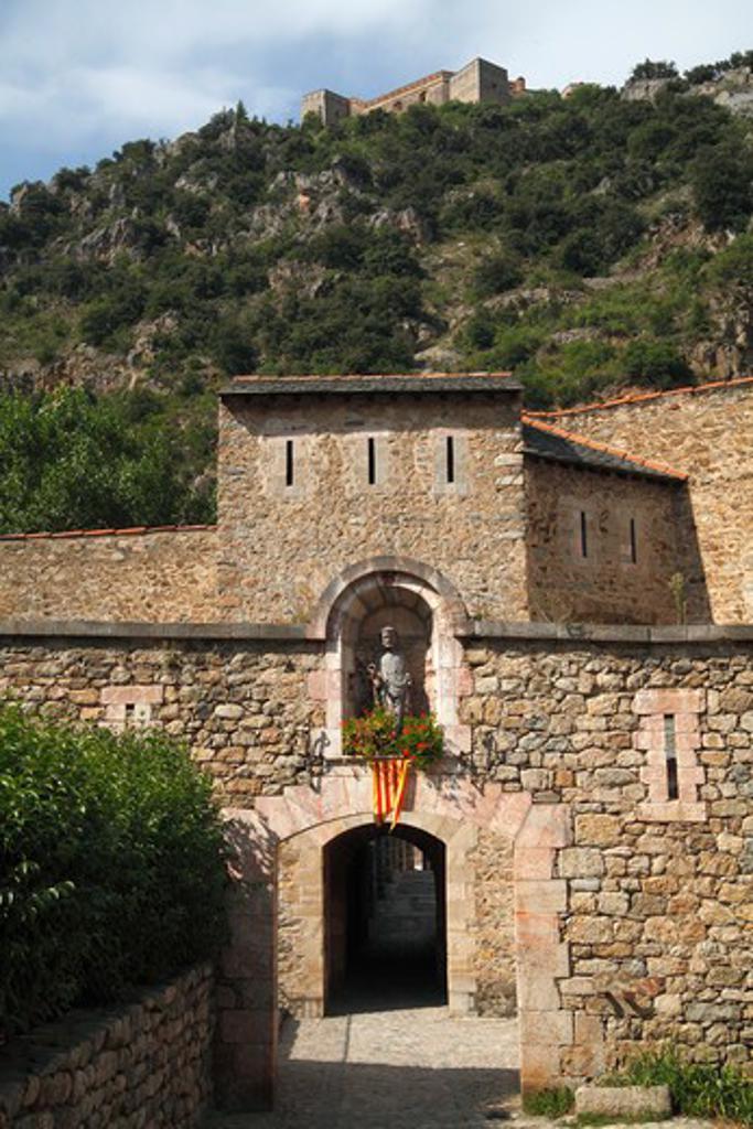Stock Photo: 1606-164953 France, Languedoc Roussillon, Pyrenees Orientales (66), Villefranche de Conflent, ( Tet valley)