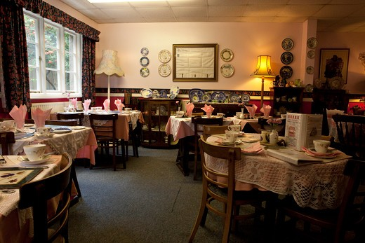 Stock Photo: 1606-165672 Dartmoor National Park,Devon,England, coffee shop in Buckland in the Moor