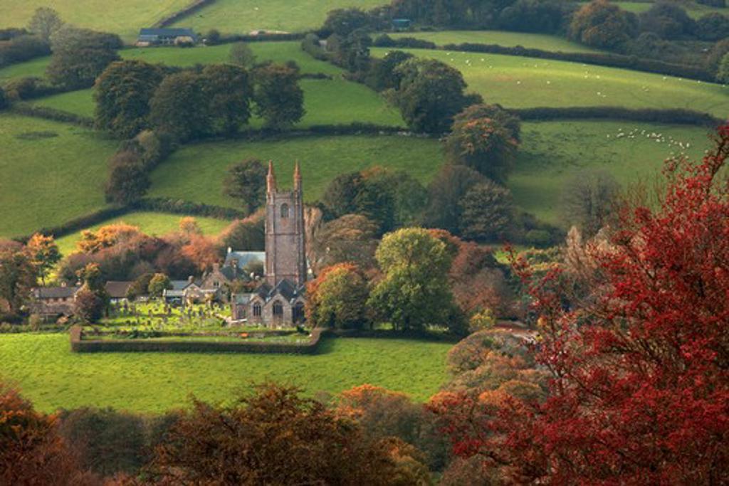 Stock Photo: 1606-165677 Dartmoor National Park,Devon,England, Widecombe in the Moor