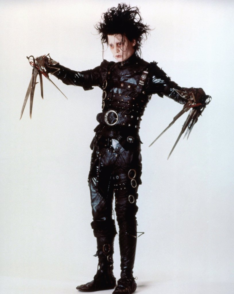 Stock Photo: 1606-166279 Johnny Depp , Edward Scissorhands  , 1990 directed by Tim Burton [Twentieth Century Fox Film Corpo]