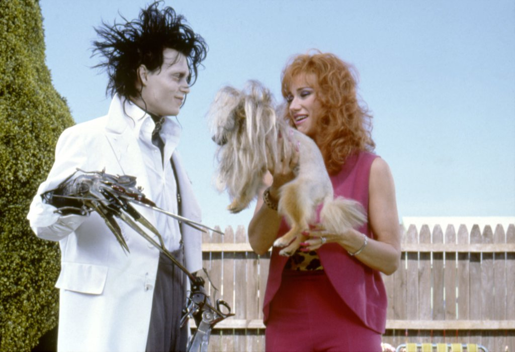 Stock Photo: 1606-166284 Johnny Depp and O-Lan Jones , Edward Scissorhands  , 1990 directed by Tim Burton [Twentieth Century Fox Film Corpo]