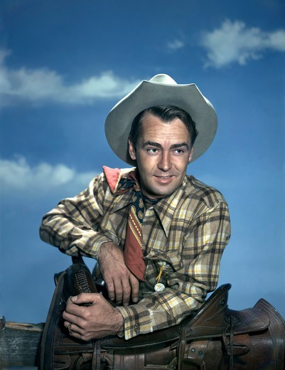 Alan Ladd , Branded , 1951 directed by Rudolph Maté [Paramount Pictures] : Stock Photo