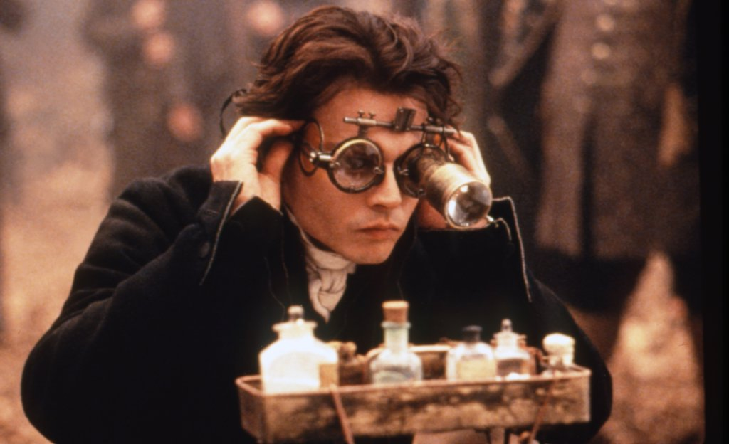 Johnny Depp , Sleepy Hollow , 1999 directed by Tim Burton [Paramount Pictures] : Stock Photo