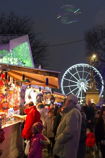 Stock Photo: 1606-167125 France, Paris, 75, Champs-Elysees, Christmas Market, 2011 December