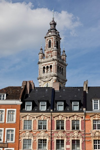 France, Lille, Grand'Place, in the old city center : Stock Photo