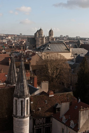 Stock Photo: 1606-167714 France, Dijon, view of the city from Notre Dame church