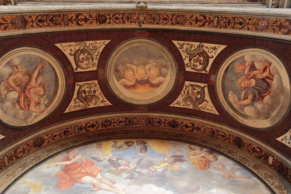 Italy, Lombardy, Milan, San Maurizio Church, interior, : Stock Photo