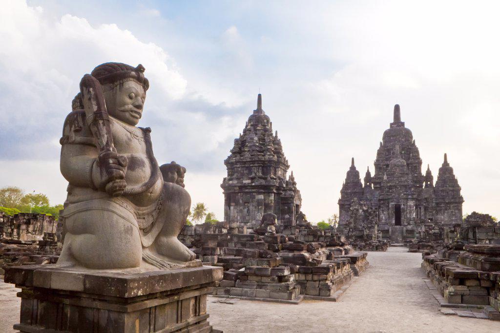 Stock Photo: 1606-170179 Indonesia-Near Yogjakarta City-Prambanan Temples (W.H.)-Sewu Temple