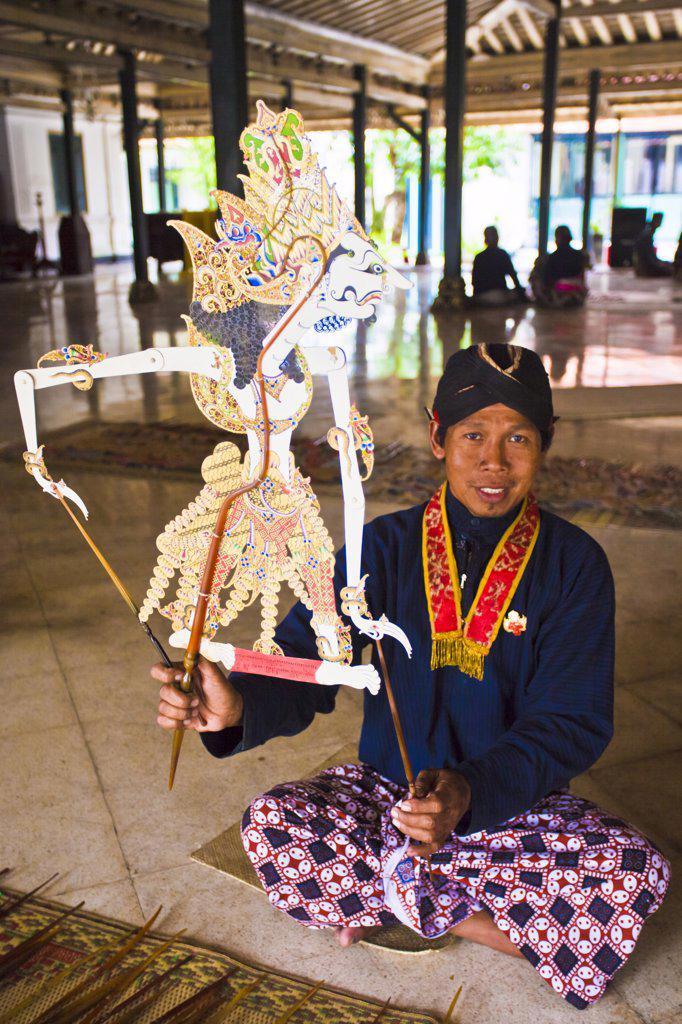 Indonesia-Jogjakarta City-The Kraton (Sultan Palace)-Puppet : Stock Photo