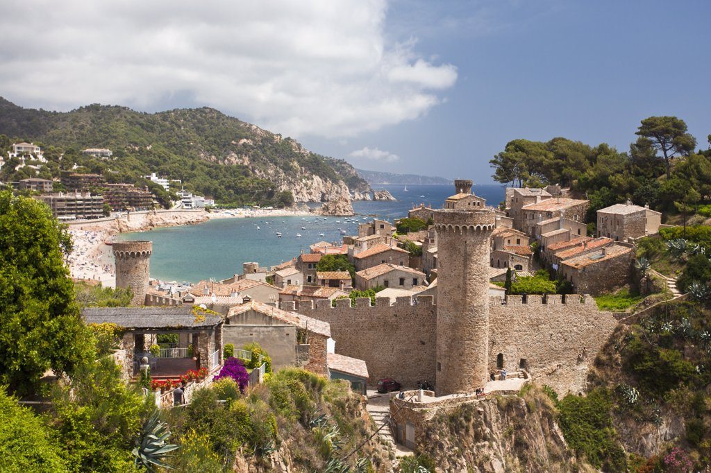 Stock Photo: 1606-170357 Spain, spring 2011,Girona Province, Costa Brava Coast,Tossa de Mar City,
