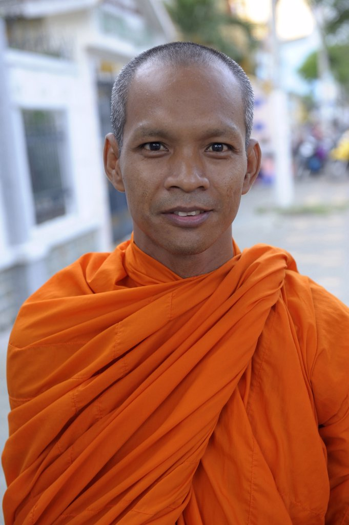 Stock Photo: 1606-171525 Asia, Southeast Asia, Vietnam, delta Mekong, Can Tho, portrait of a Buddhist monk