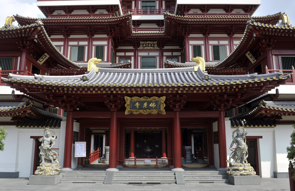 Stock Photo: 1606-172933 Asia, Southeast Asia, Singapore, the temple of the Tooth Relic of Buddha, Chinese neighborhood