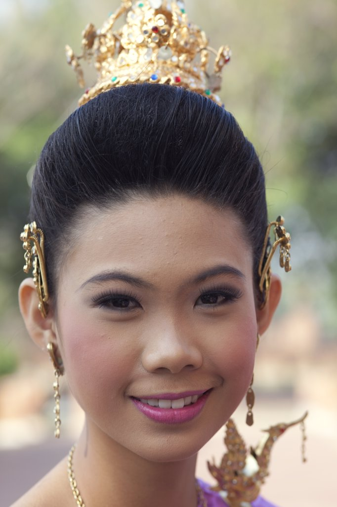 Thailand,Bangkok,Portrait of Dancing Girl : Stock Photo