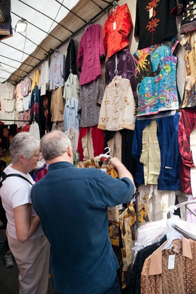 Stock Photo: 1606-175909 China,Hong Kong,Kowloon,Mong Kok,Ladies Market