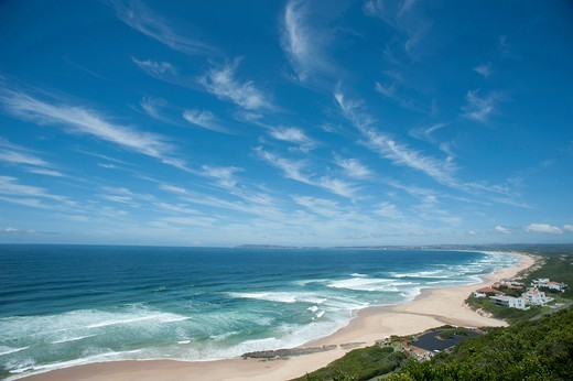 Stock Photo: 1606-176886 SOUTH AFRICA  - WESTERN CAPE PROVINCE -  THE BEACH OF KEURBOUMSTRAND  AND THE INDIAN OCEAN