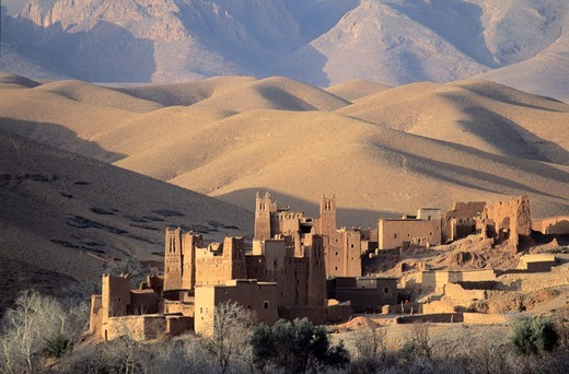 Stock Photo: 1606-180732 Village; dades valley ;Morroco.
