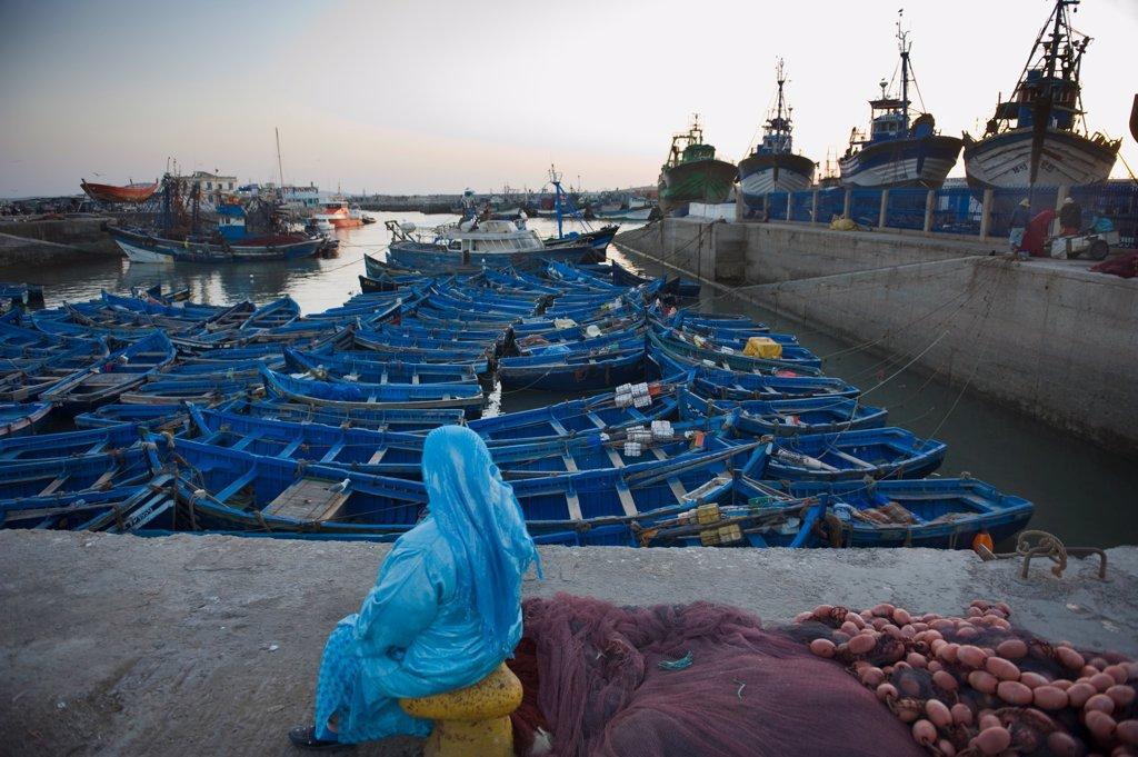 Stock Photo: 1606-180911 Fishing harbour;Essaouira;Morocco
