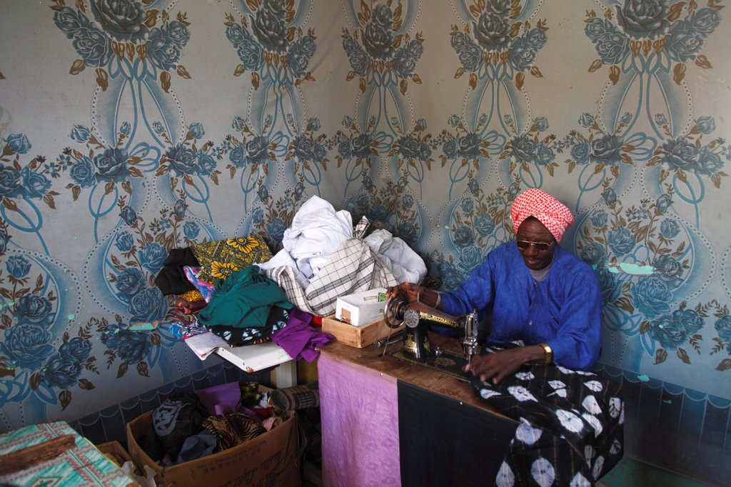 Stock Photo: 1606-181653 West Africa, Mauritania, Sénégal river valley, Gory (Kaedi area)