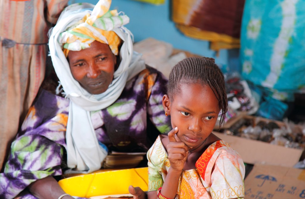 Western Africa, Mauritania, Foum Gleita village (Mbout area) : Stock Photo