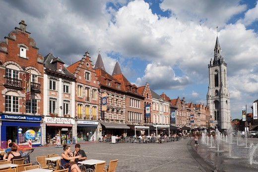 Stock Photo: 1606-182247 Belgium,Tournai,Market Place