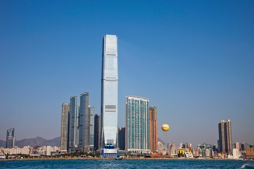 Stock Photo: 1606-183250 China,Hong Kong,West Kowloon,International Commerce Centre Building (ICC)