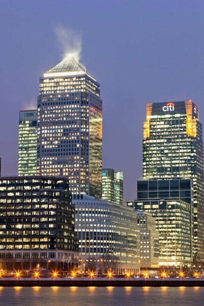 England,London,Docklands,Canary Wharf : Stock Photo