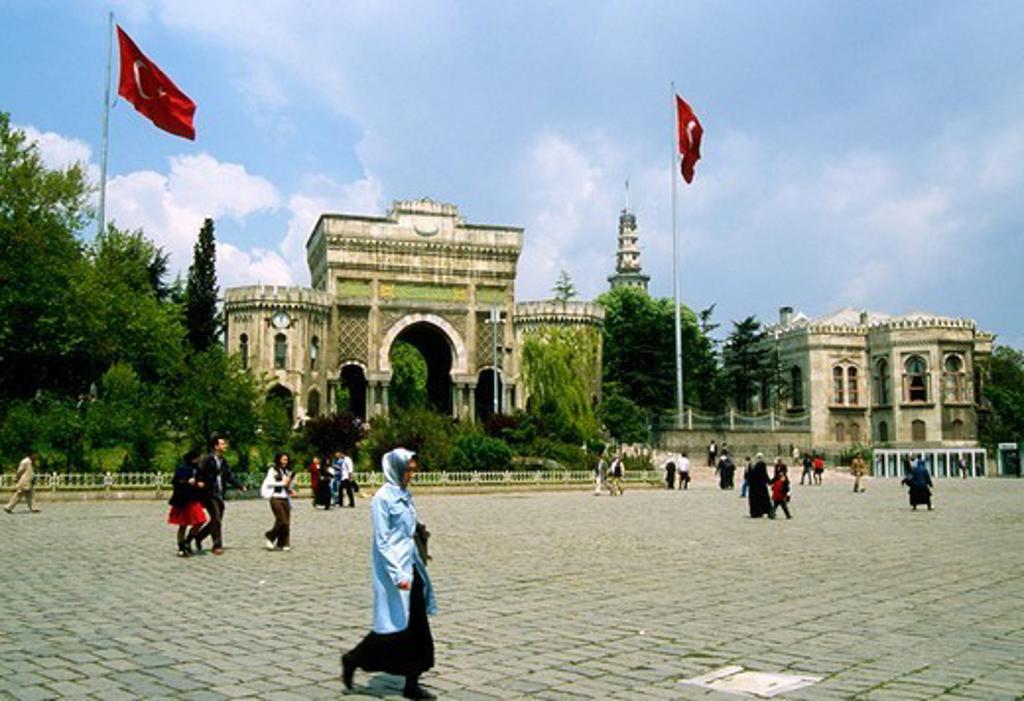 Stock Photo: 1606-183709 Turkey, Istanbul, University, people,