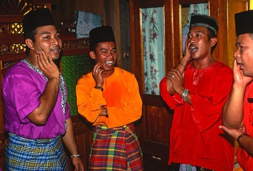 Malaysia, traditional singers, : Stock Photo