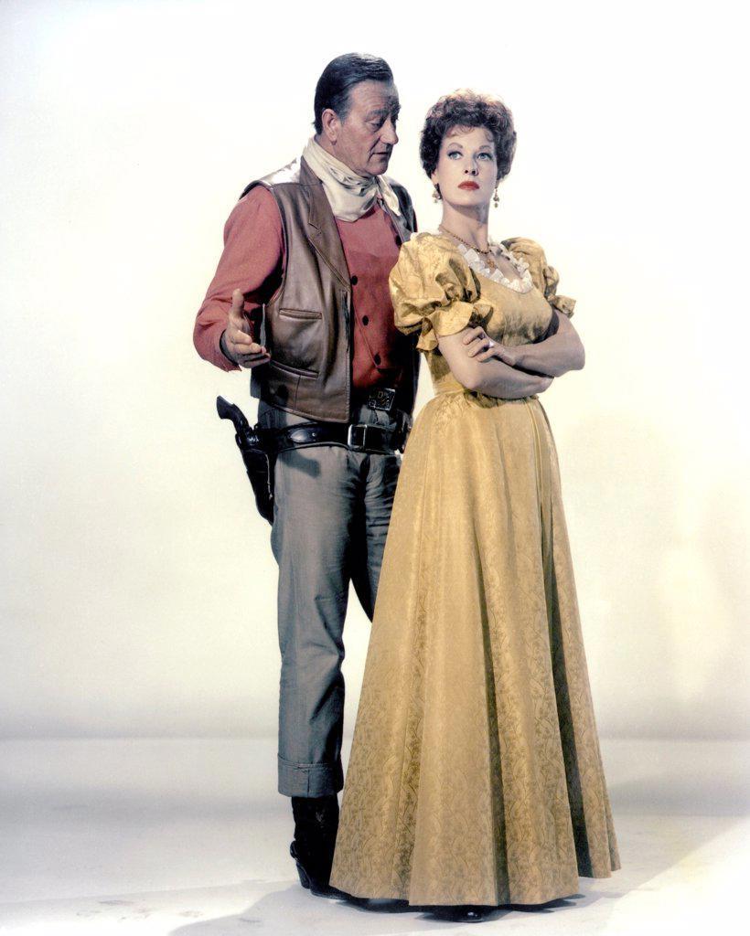 Stock Photo: 1606-184245 John Wayne and Maureen O'Hara , McLINTOCK ! , 1963 directed byAndrew V. McLaglen (United Artists)
