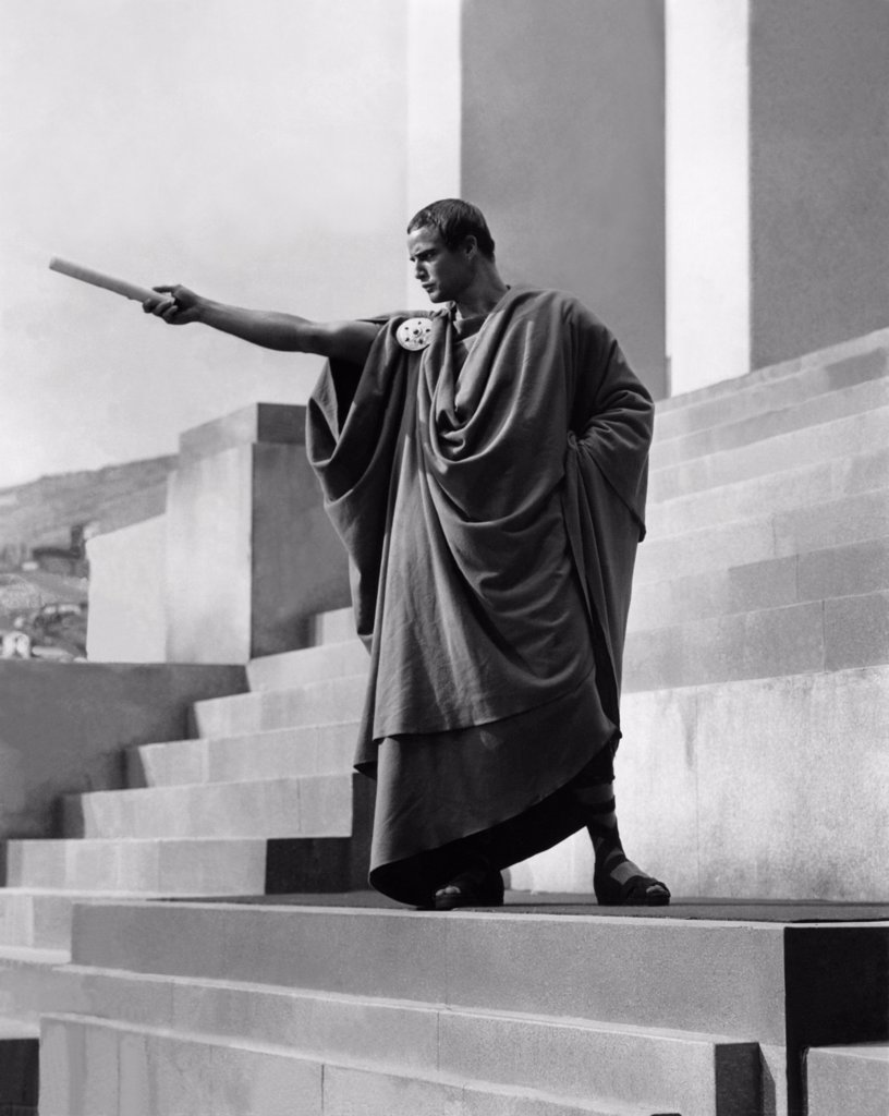 Stock Photo: 1606-184355 Marlon Brando , Julius Caesar , 1953 directed by Joseph L. Mankiewicz  (Metro-Goldwyn-Mayer Pictures)