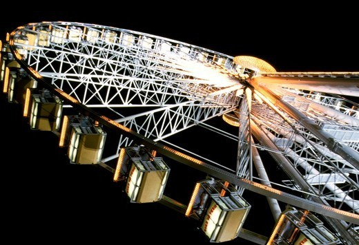 Stock Photo: 1606-185371 France, Ile-de-France, Paris, La Grande Roue, Ferris wheel in a city