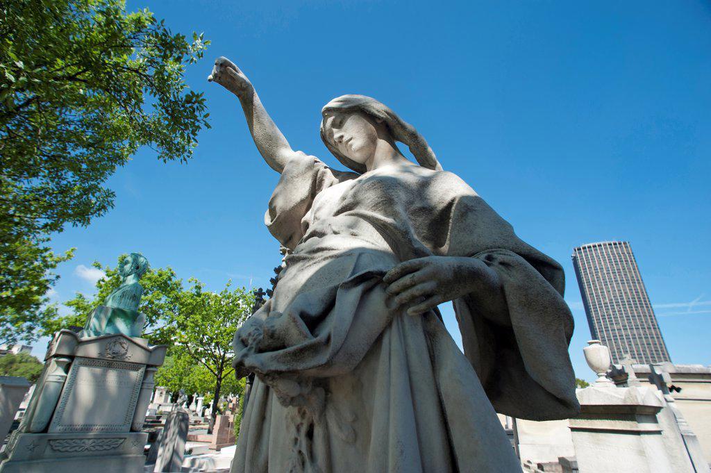 Paris14 ème district - grave of the Cemetery Montparnasse : Stock Photo