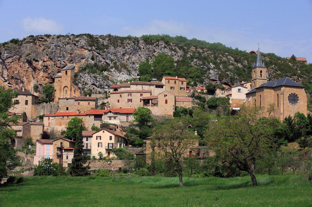 Stock Photo: 1606-185981 France, Aveyron (12), labeled Village Peyre Most Beautiful Villages In France,
