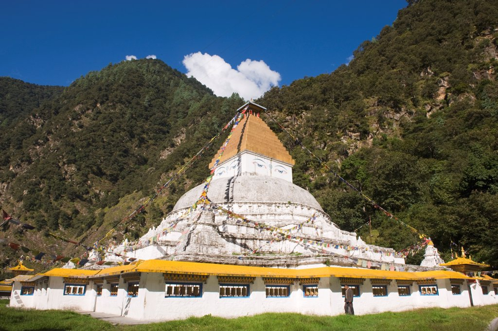 Stock Photo: 1606-186487 Pagoda 12th;Gorsam;Arunachal Pradesh;India