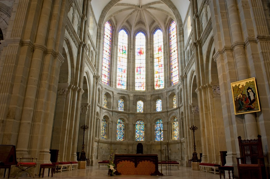 Choir,St Lazare Cathedral,Autun,Burgondy,71,France : Stock Photo
