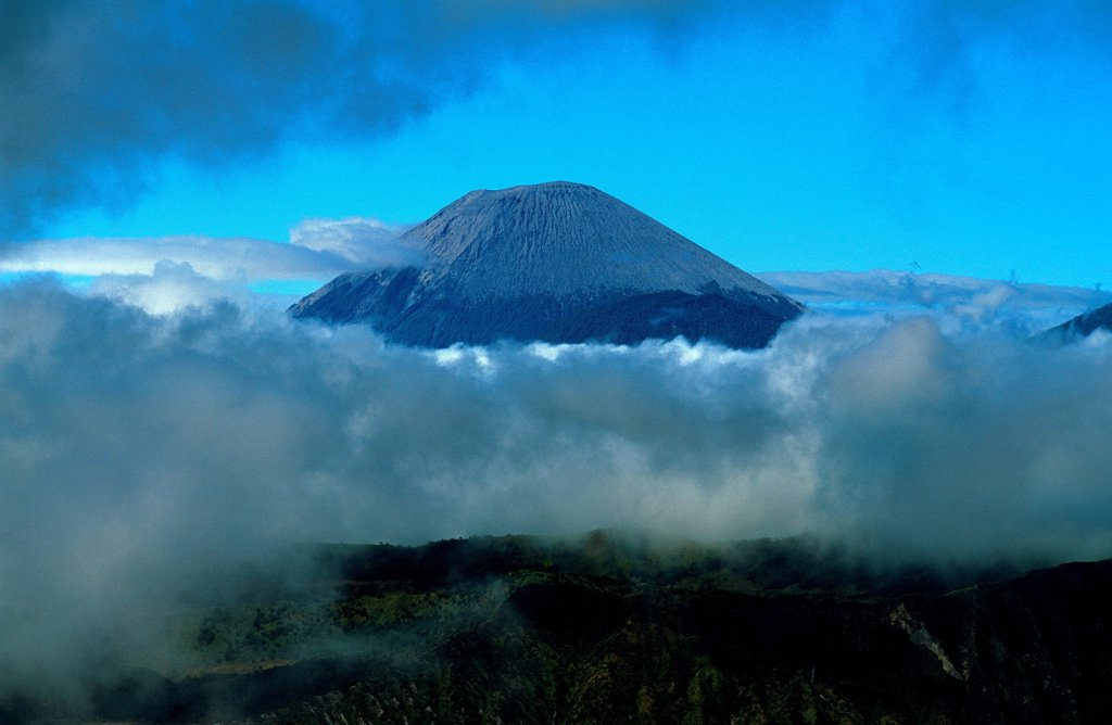 Stock Photo: 1606-187009 Caldeira and Bromo (2.329 m) & Semeru (3.676 m) volcanoes on Java. Indonesia.