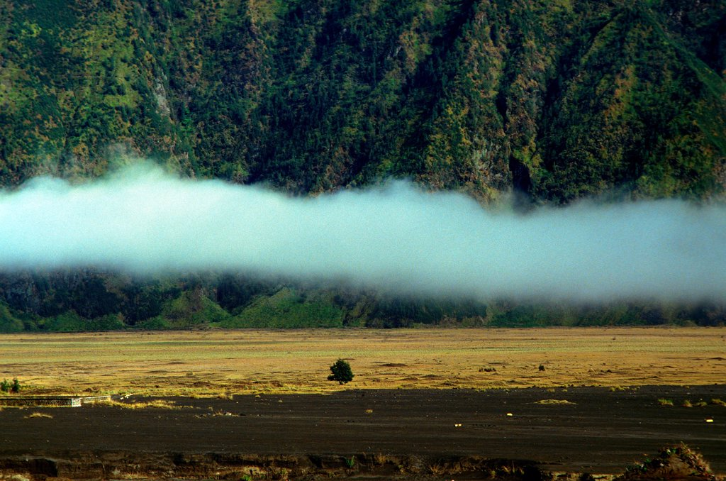 Stock Photo: 1606-187016 Caldeira and Bromo (2.329 m) & Semeru (3.676 m) volcanoes on Java. Indonesia.