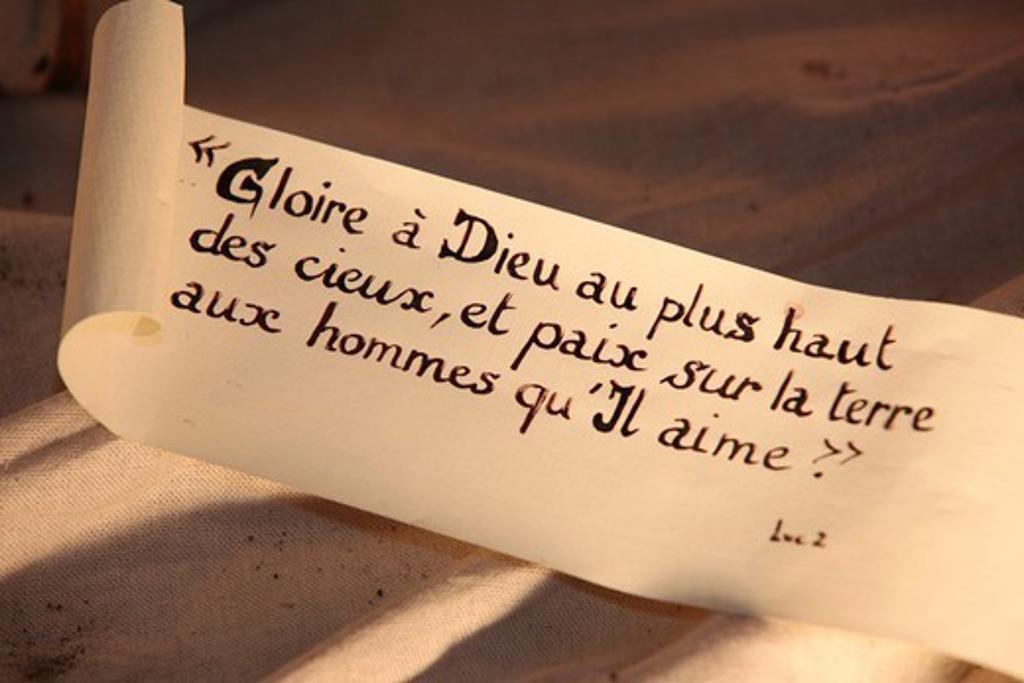Stock Photo: 1606-187256 Bible verse Paris. France.