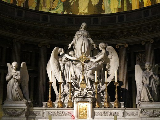 Sculpture in La Madeleine church Paris. France. : Stock Photo