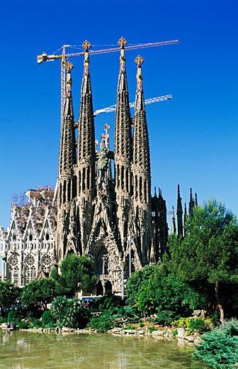 Stock Photo: 1606-18760 Spain, Catalonia, Barcelona, Sagrada Familia church (Gaudi)