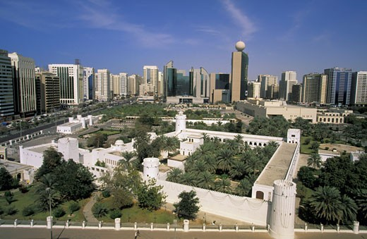 United Arab Emirates, Abu Dhabi, Al-Hosn palace : Stock Photo