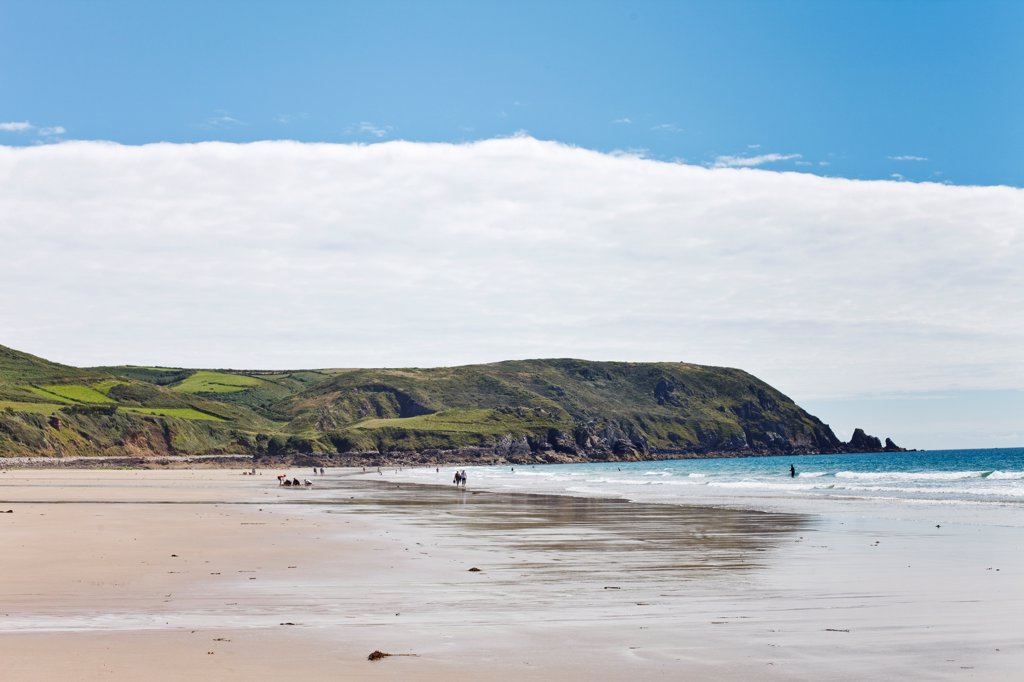 France, Normandy, Manche, Cotentin Peninsula, Ecalgrain bay : Stock Photo
