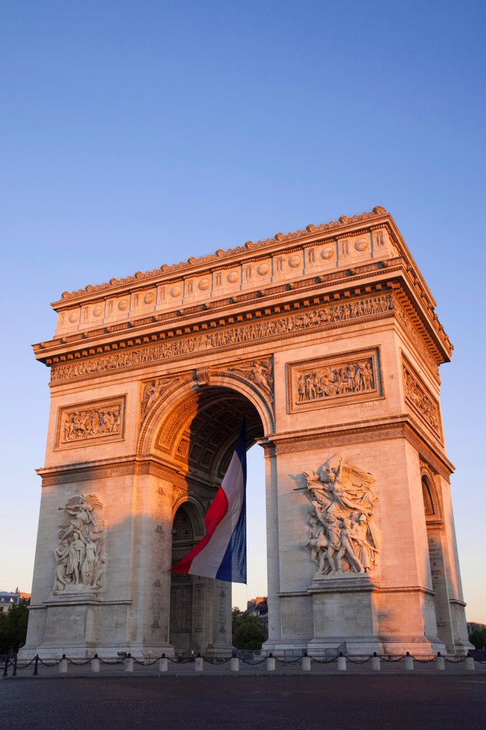France, Paris, Arc de Triomphe : Stock Photo