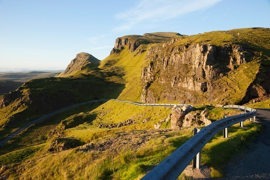Scotland, Inner Hebrides, Isle of Skye, The Quiraing Mountain Range : Stock Photo