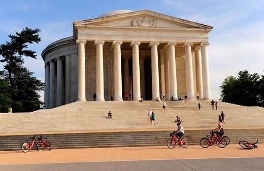 Stock Photo: 1606-190382 The Jefferson memorial,Washington DC,United States,USA