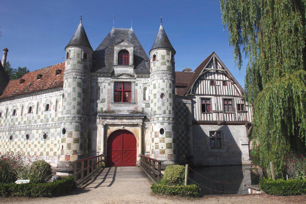 France, Normandy, Basse normandie, Calvados, Saint-Germain-de-Livet castle : Stock Photo