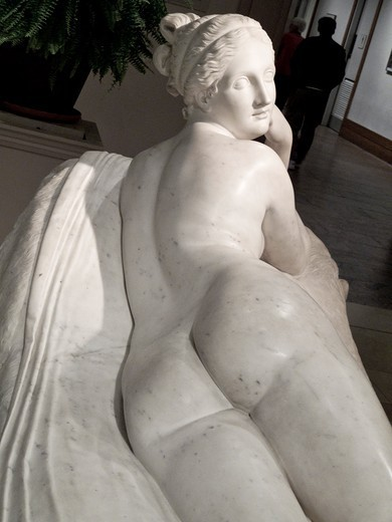 Stock Photo: 1606-192972 USA, New York City, Metropolitan Museum Of Art, Canova Sculpture Of A Naiad