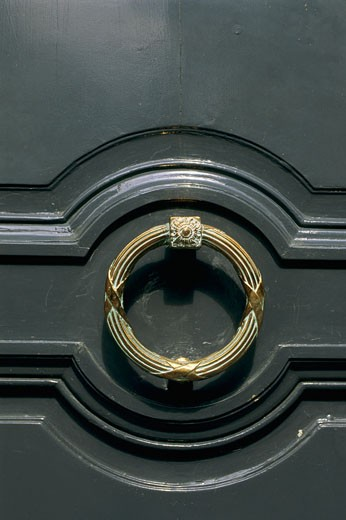 Stock Photo: 1606-19311 France, Paris, door knocker, close-up